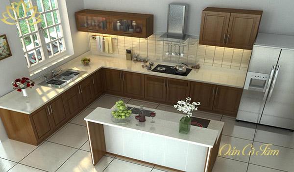 cách bố trí phòng bếp